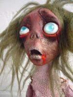 Zombie girl Mathania close up by SoDarkSoCute