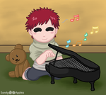 Gaara's Piano by Sandy--Apples
