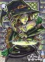 Hallowe'en Sketch Card - Stacey Kardash 1 by Pernastudios