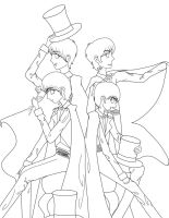 Tuxedo Beatles:Lineart: by Belislythindor