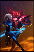 Saint Walker vs Atrocitus by CBSorgeArtworks