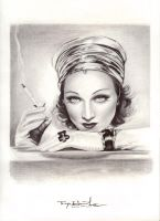 As Marlene Dietrich by baurberdeshev