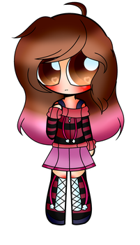 My OC wearing a design that I been thinking by JigglypufftheUTfan