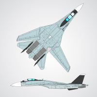 FS-17B Tyrfing fighter concept by ACZCipher
