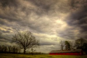 Old Red Barn HDR by joelht74