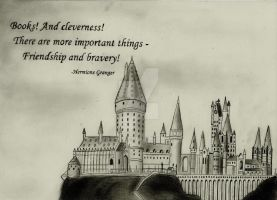 Hogwarts Castle (Graphite Drawing) by julesrizz