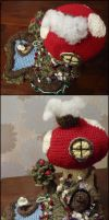 Toadstool fairy house and garden - Finished by StrandedAutumn