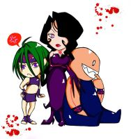 Envy, Lust and Gluttony by shyanadoe
