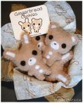 Gingerbread Plushies by littlepaperforest