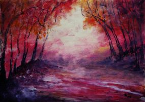 Autumn Feelings (acrylic) by AlexandraDart