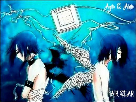 Akito and Agito Wallpaper by Carrigan666