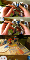 painting my transformers toys by Dnightshade
