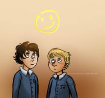 Young!Sherlock and John by ilcielocapovolto