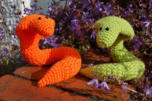 Snakey and Friend by RuthNorbury