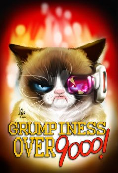 Grumpy cat dragon ball z by mainasha