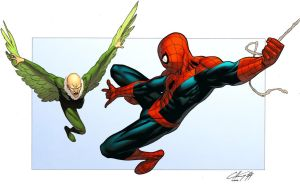 Vulture vs Spider-Man by spidermanfan2099