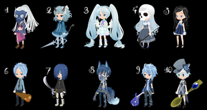 Blue Babies Write-to-Adoptables -OPEN- by Mellowadoptables