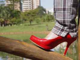 Red shoes by johnnymarques
