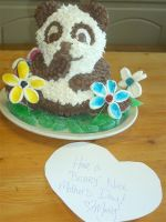 Mother's Day Panda Cake by estranged-illusions
