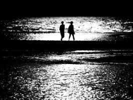 walking by the seaside by pickerel