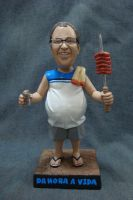 Barbecue day - 7 inches bobblehead figure by GreenZombieStudios