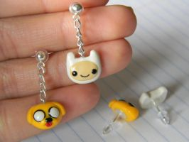 Adventure Time Dangly Earrings-Polymer Clay by ThePetiteShop