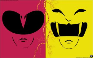 Pink - Yellow Mighty Morphin Power Ranger by DesignsByTopher