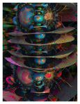 Psychedelic Abstract V by eccoarts