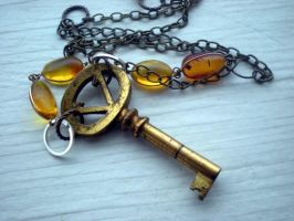 Brass Key and Amber by rowan300
