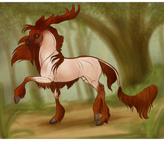Forested Stroll (Old Auction Bid) by strideroo