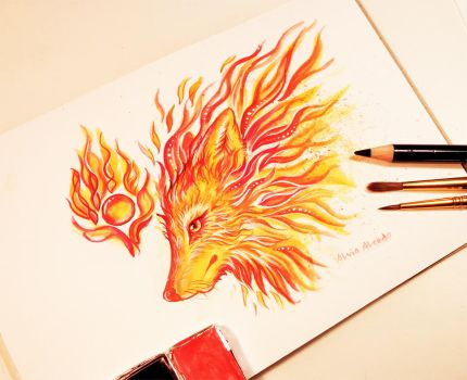 Fire fox by AlviaAlcedo