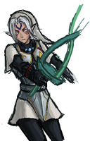 LoZ Majora's Mask -Fierce Deity Link- iS doodle 2 by cGeneticist