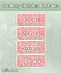 Pink Decorative Buttons by LinaLeeL