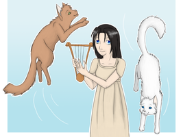 Melodious Cats by hykari
