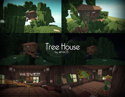 Tree House (Minecraft) by error-23