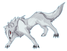 White wolf by AmethystTheIceDragon