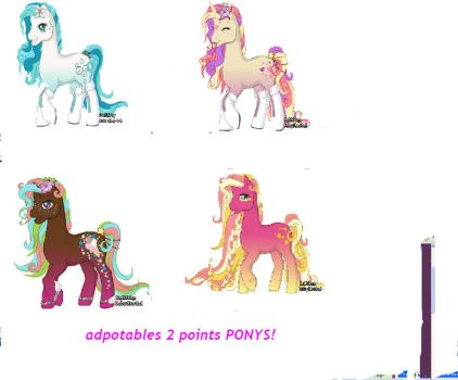 ADOPTABLES PONYS 2 POINTS by carlie1299