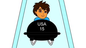 Diego in a bobsleigh by dev-catscratch