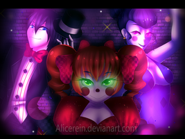 FNAF Sister Location - Baby, Ballora and Ennard by AliceRein