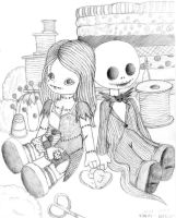Jack and Sally Dolls by Artlyss