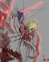 -Eat you Alive- MortyxFalkner SKETCH by KT-ExReplica