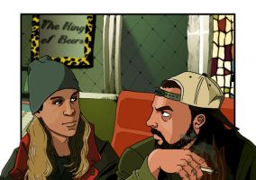 Jay and Silent Bob wtf by deanfenechanimations