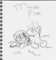 LPU Mini Celeb Sketches MANDOFIRE by Jovey4