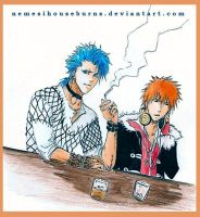 Bleach - Grimmjow and Ichigo. by NemesiHouseburns