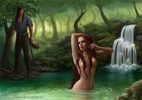 By the spring-fed pool by Irulana