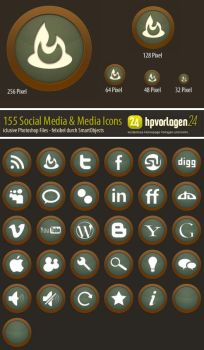 30 Social Network Icons - PSD by hpv24sabine