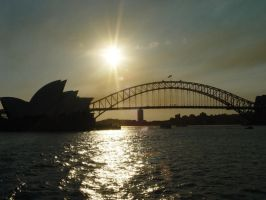 Opera House and Bridge by lstolzar