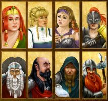 Dwarves Avatar Illustration by AlexandraKnickel