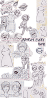 Sketch Dump! (pewdiepie, cryaotic, markiplier,ect) by mydogisawfullyfat