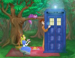 The Doctor and Alice by BlueManta87